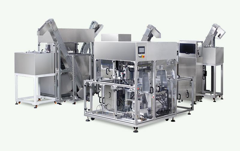 医药输液盖自动检査、组装、包装生产线